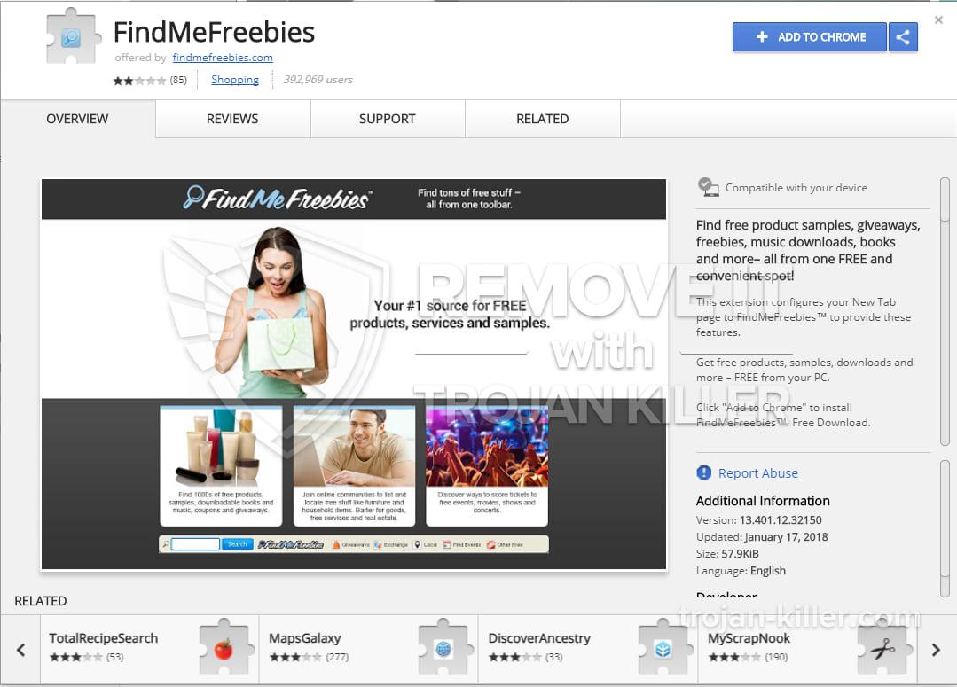 FindMeFreebies virus