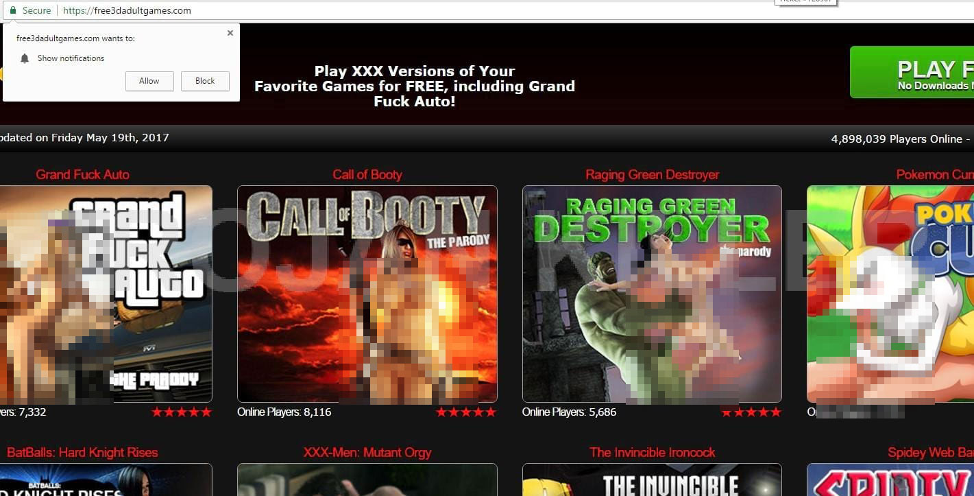 Free3dadultgames.com virus