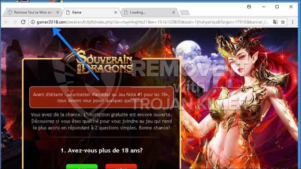 Gamer2018.com virus