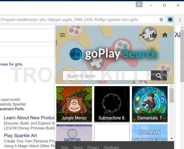 GoPlay Search virus