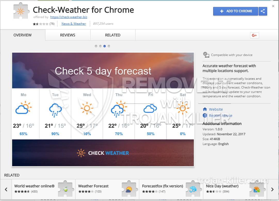 Check-Weather for Chrome virus