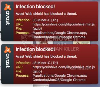 remove JS:Miner-C virus