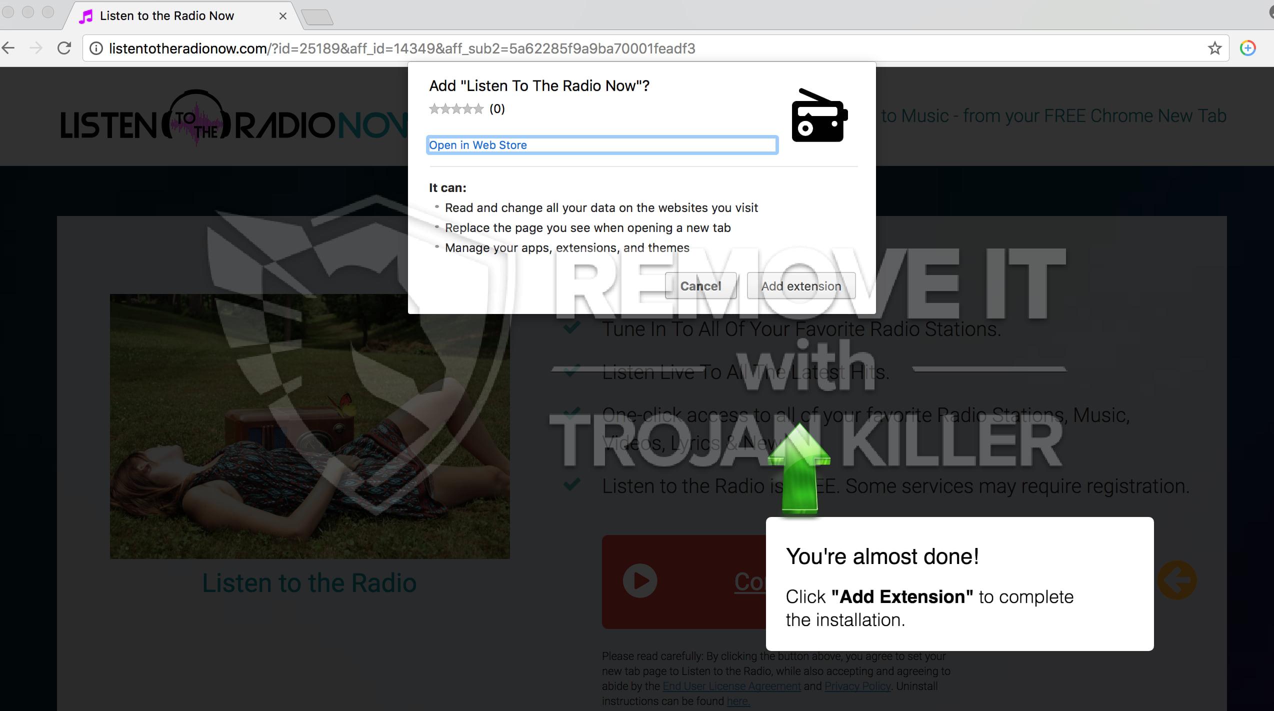 Listentotheradionow.com virus