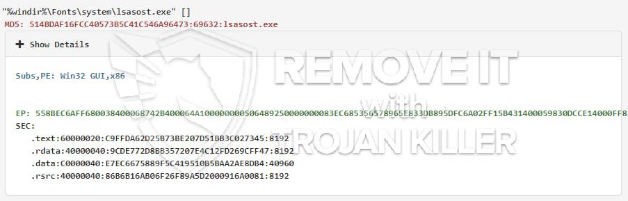 lsasost.exe virus