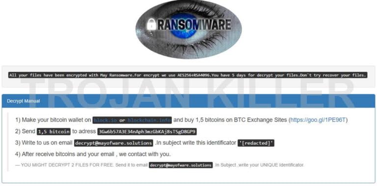 May Ransomware virus