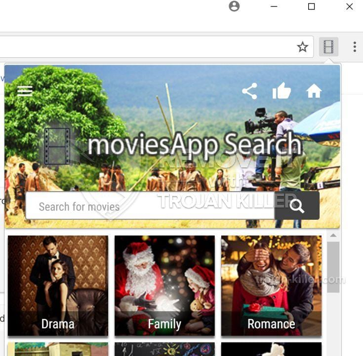 MoviesApp Search virus