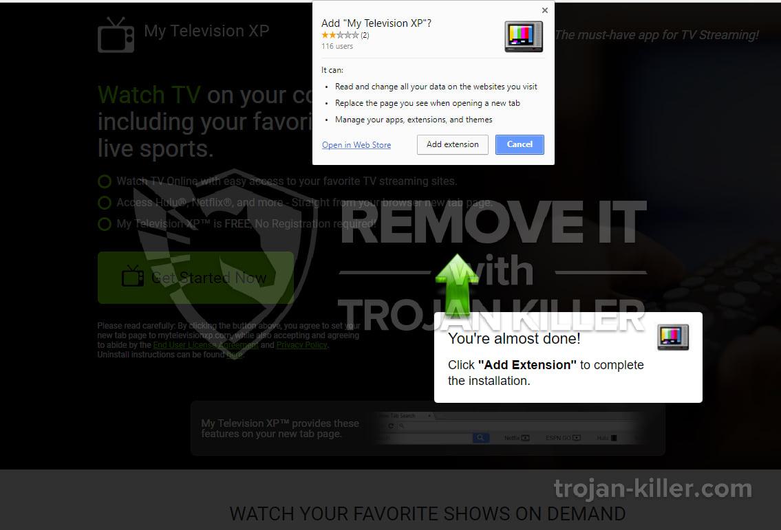 mytelevisionxp.com virus
