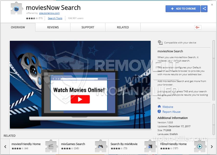 moviesNow Search virus