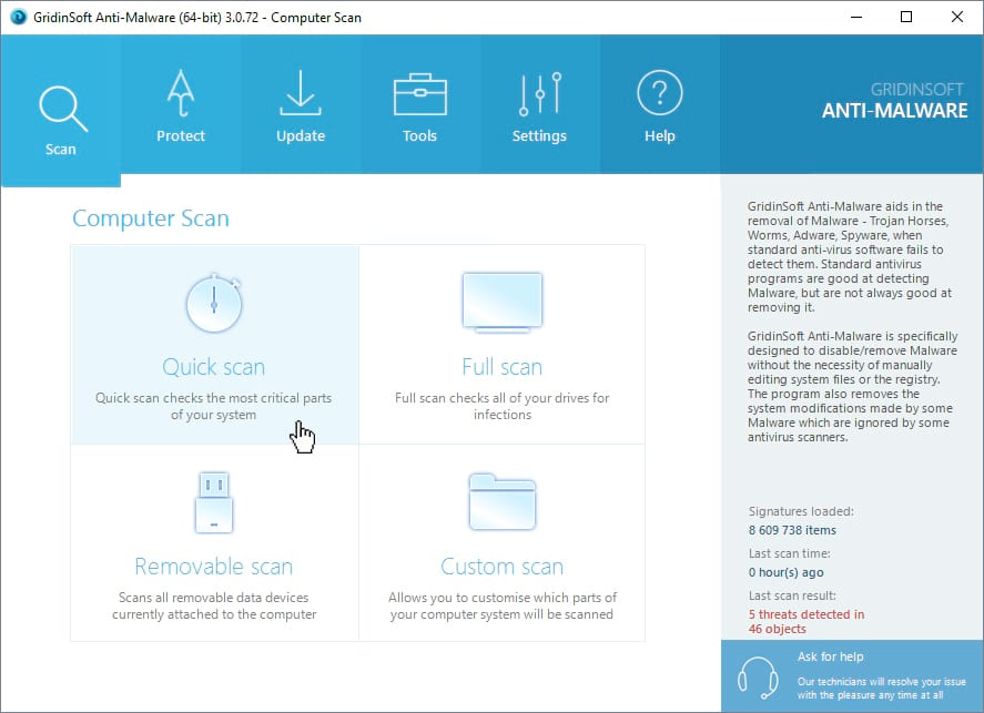 malware free scanner