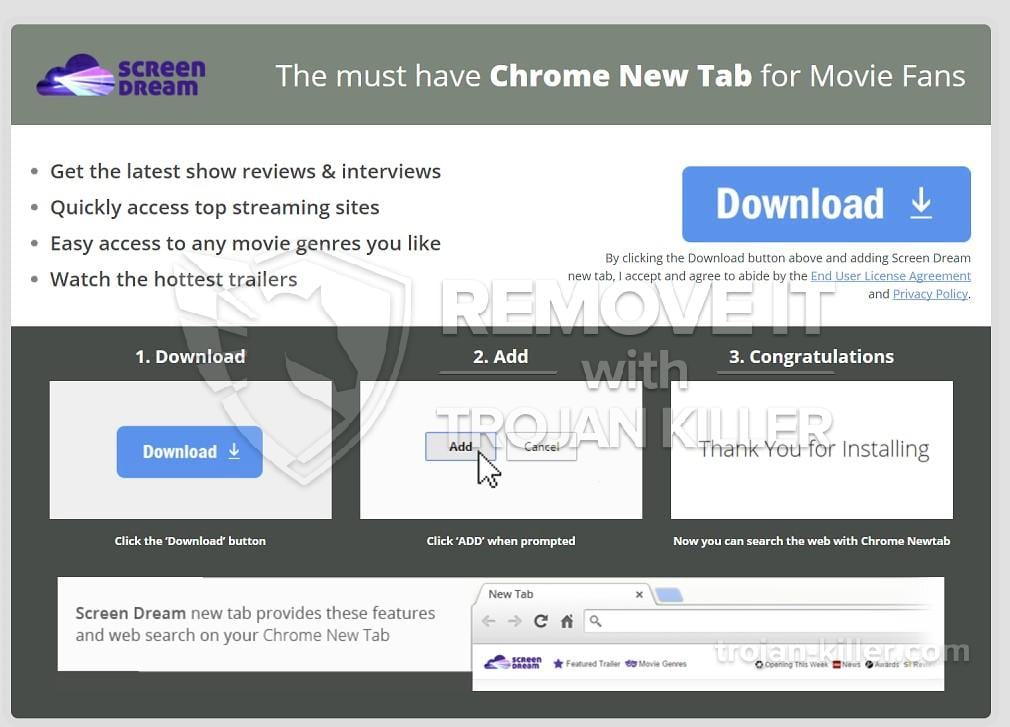 screendream.yournewtab.com virus