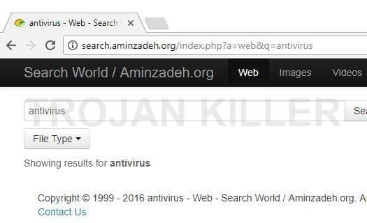 Search.aminzadeh.org virus