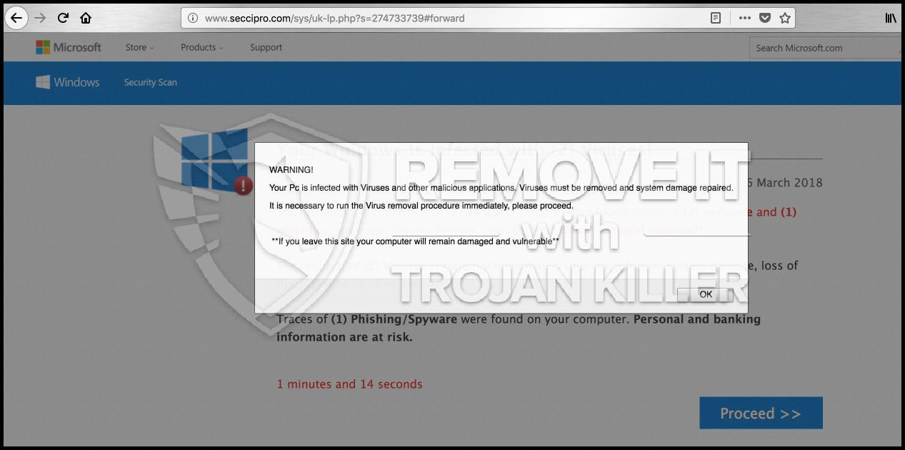 Seccipro.com virus