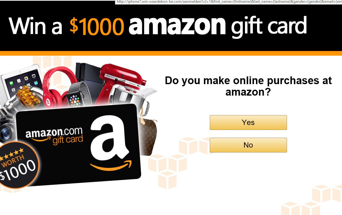 Win a $1000 amazon gift card scam - Trojan Killer