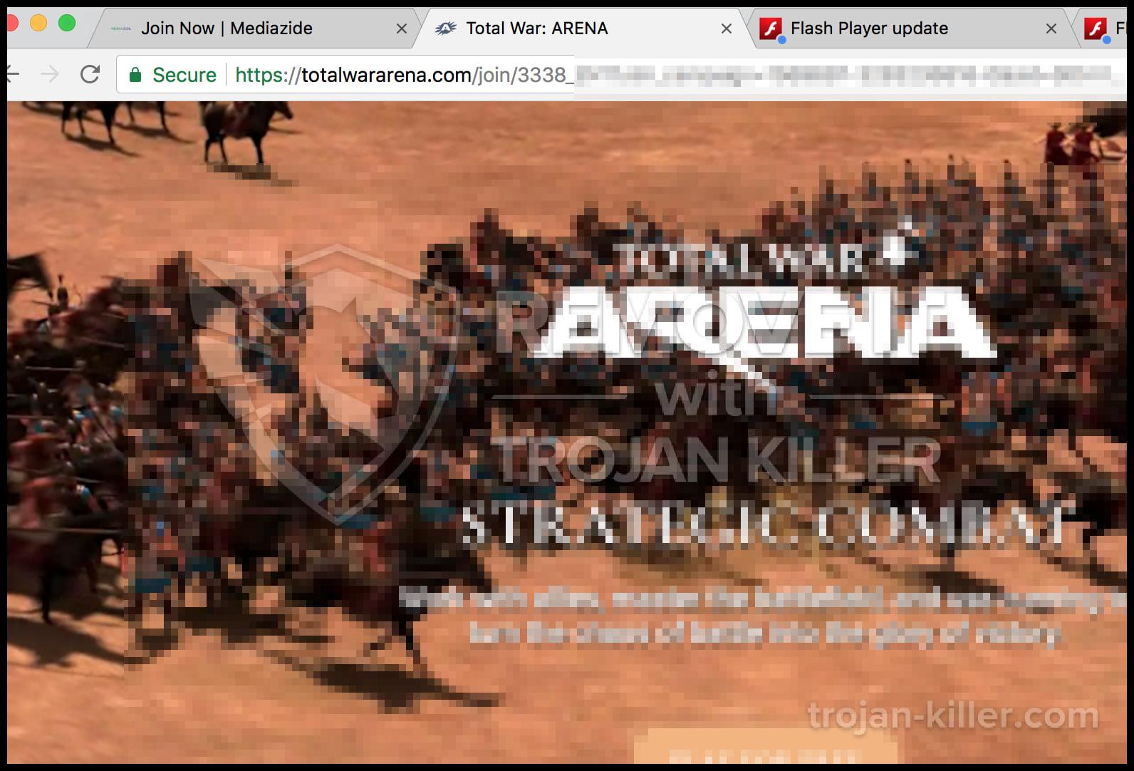 Totalwararena.com virus