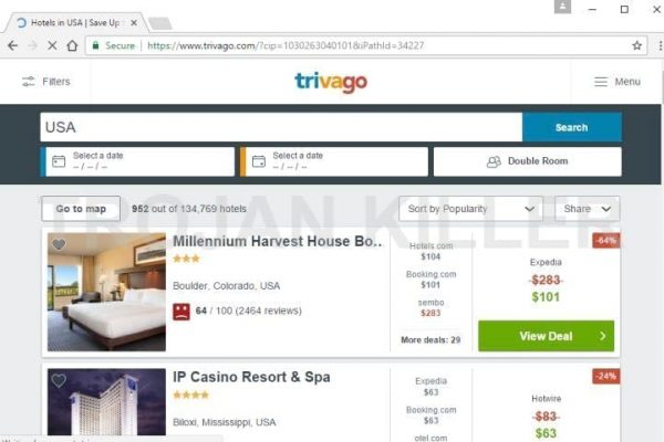 Trivago.com virus