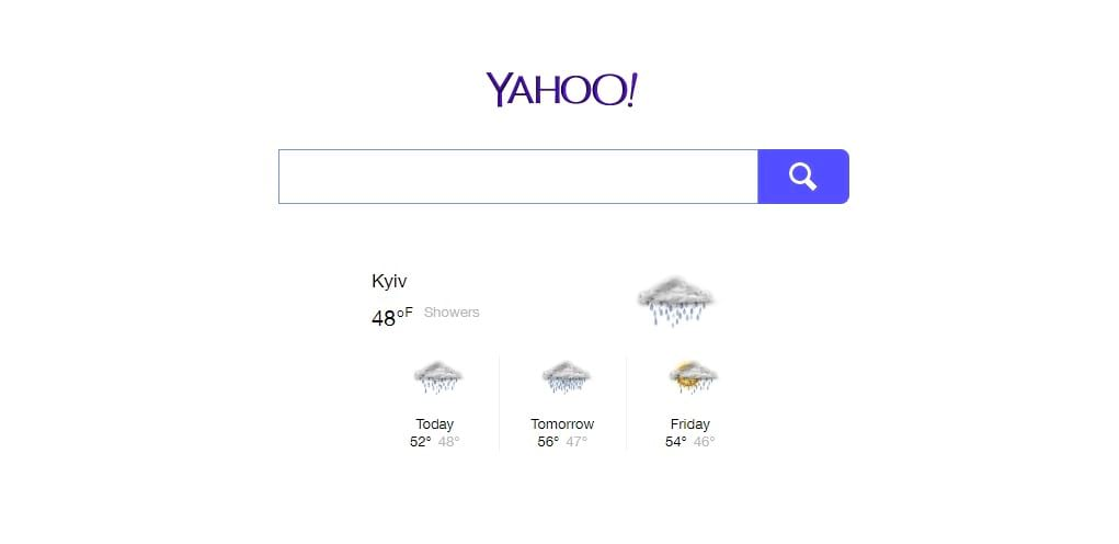 How to get rid of Yahoo search