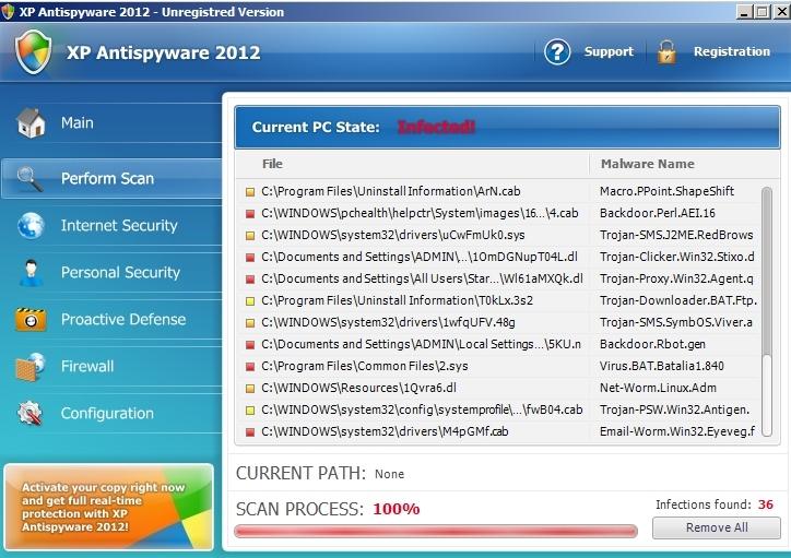 XP Antispyware 2012 virus