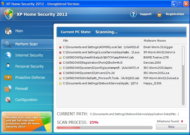 XP Home Security 2012 rogue