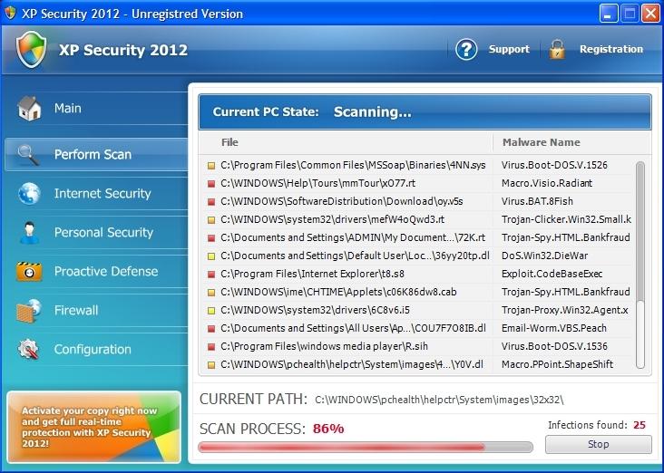 XP Security 2012 scam